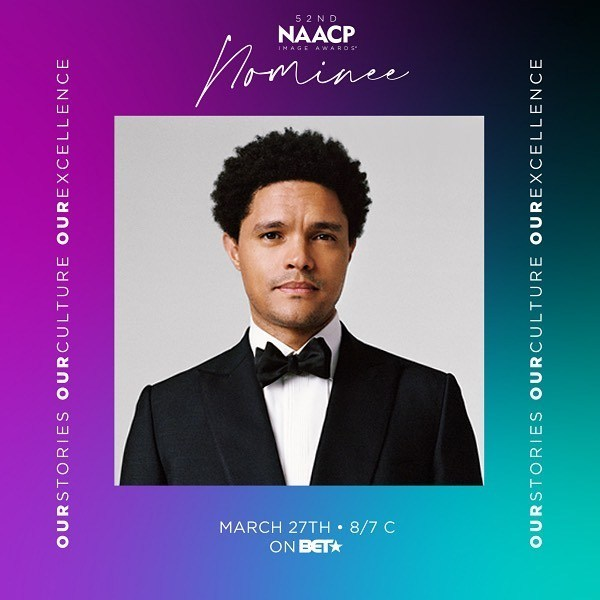 Trevor Noah nominated in this year's NAACP Image Awards