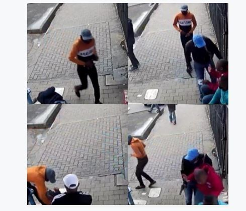 Watch : The Moment Zimbabweans Shot Two Zulu Men By Summit Club, Hillbrow. Allegedly Causing The War