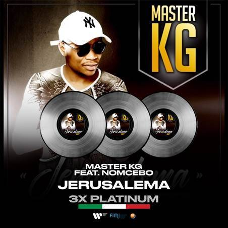 Master KG's Jerusalema is now 3xPlatinum in Italy