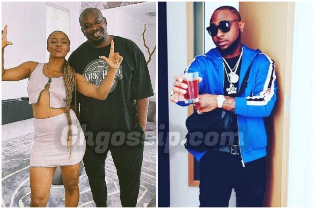"""Thank You, Baba"" – Davido Appreciates Don Jazzy After He Posed With Liya"