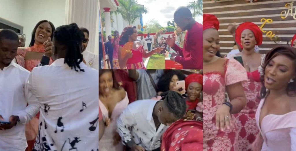 Stonebwoy performs 'Putuu' at Yvonne Okoro sister's wedding (Video)