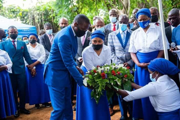 Sad! Photos from the funeral of Prophet Bushiri's 8-year-old daughter drops on the internet