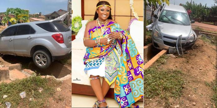 Abena Moet involved in accident (Photo)