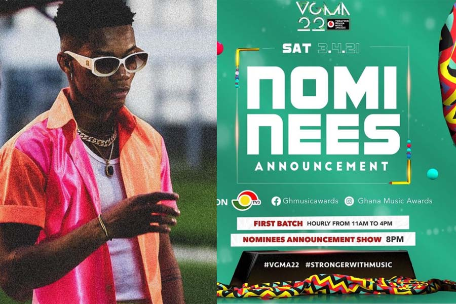 Full List Of VGMA 2021 Nominees: Kidi bags ten nominations