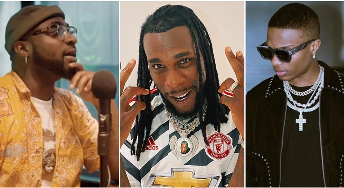 Davido, Wizkid and Burnaboy makes it into  Forbes Africa Icons list