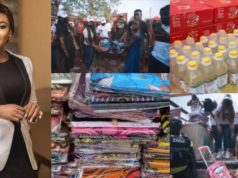 Nollywood actress, Rachael Okonkwo donates food, water and other items to over 200 widows and orphans – Video