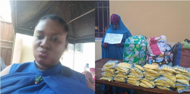 Notorious female drug trafficker, Chioma finally nabbed by the police