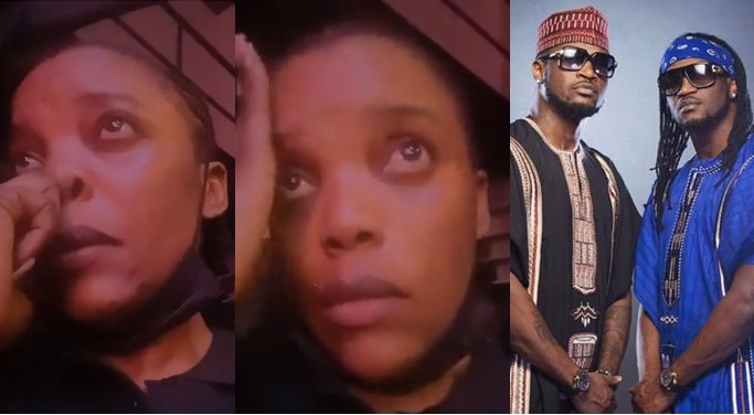 """""""Please come back together"""" – Actress, Empress Njamah cries as she begs Peter and Paul Okoye"""
